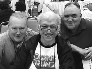 William F Nolan (center) with Stephen Jones and Pete Atkins